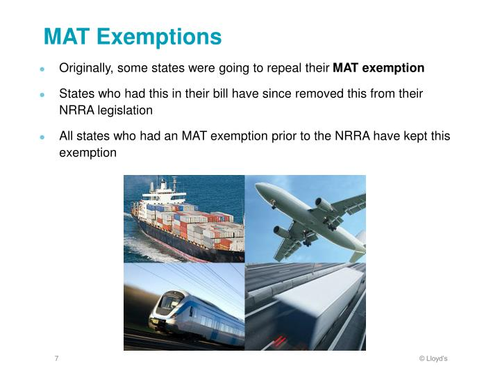 MAT Exemptions