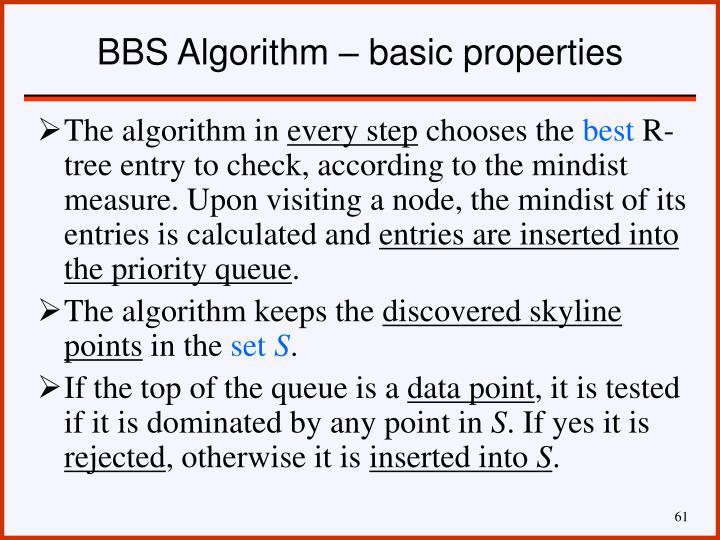 BBS Algorithm – basic properties