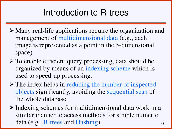 Introduction to R-trees