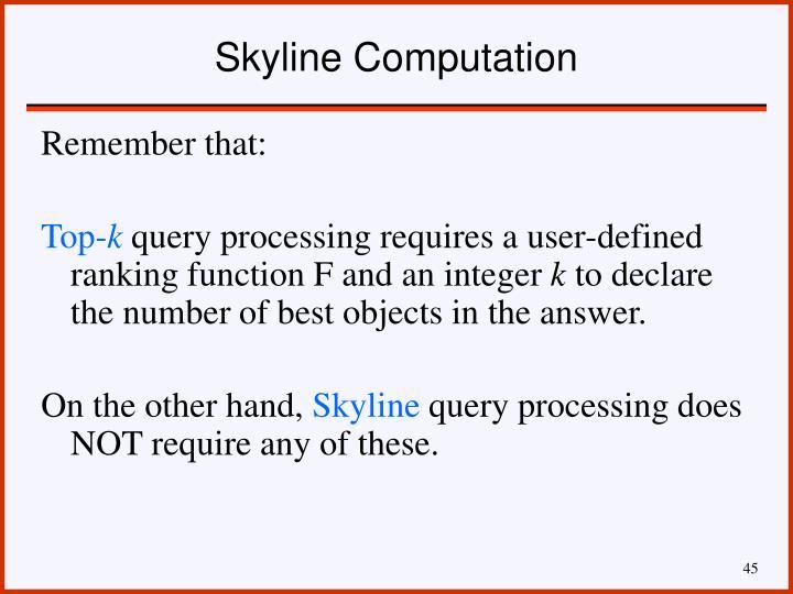 Skyline Computation