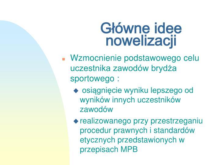 Główne idee nowelizacji