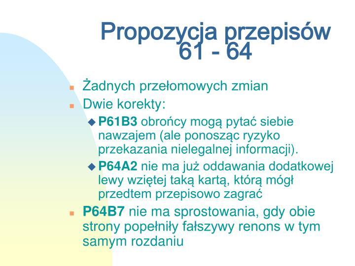 Propozycja przepisów 61 - 64