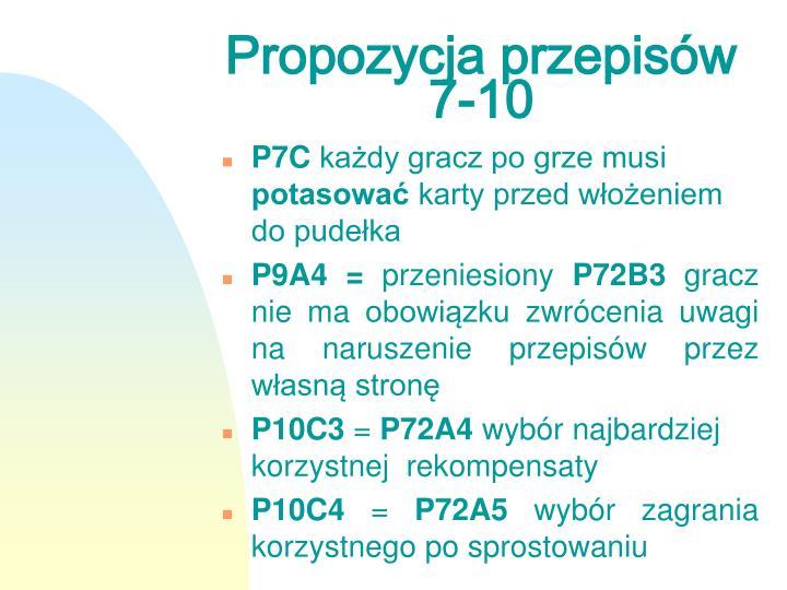 Propozycja przepisów 7-10