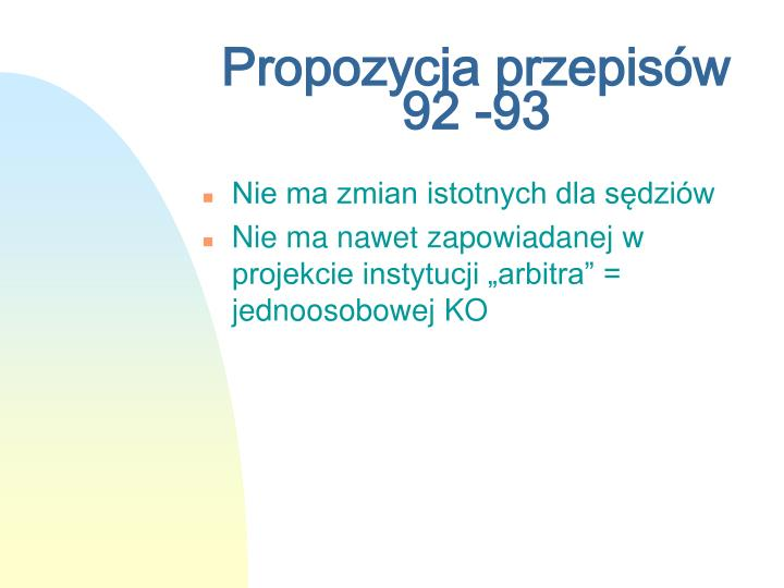 Propozycja przepisów 92 -93