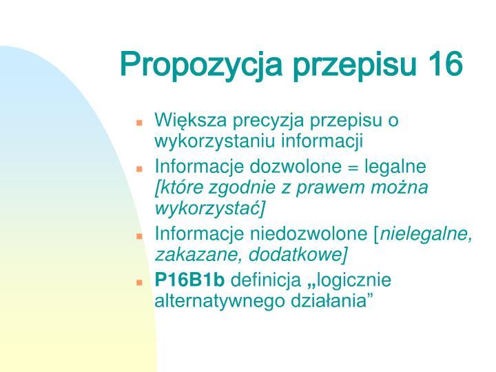 Propozycja przepisu 16