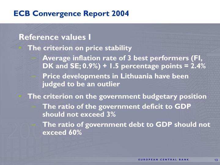 ECB Convergence Report 2004