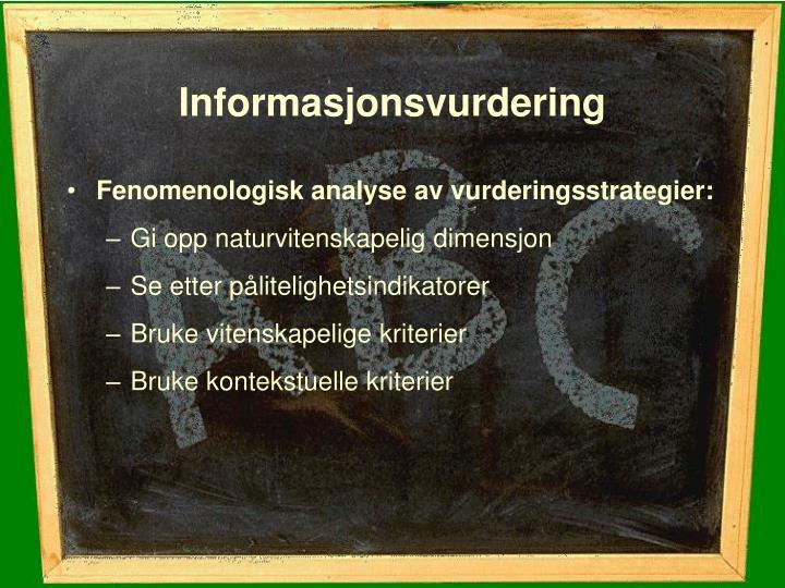 Informasjonsvurdering