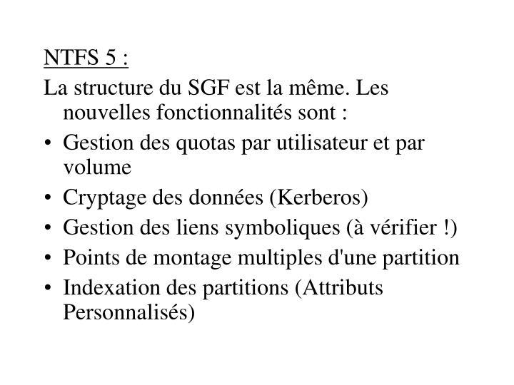 NTFS 5 :