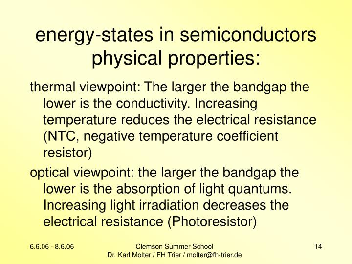 energy-states in semiconductors