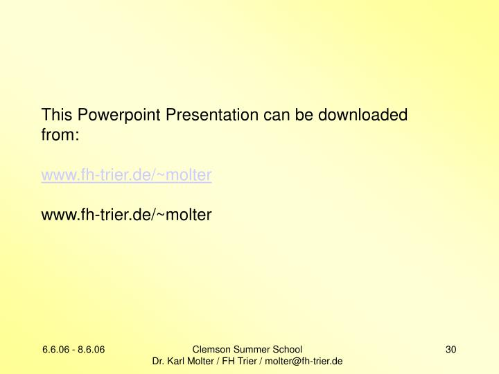 This Powerpoint Presentation can be downloaded