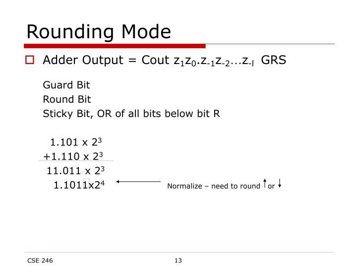 Rounding Mode