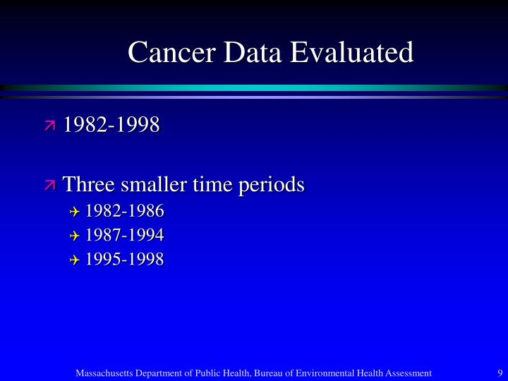 Cancer Data Evaluated