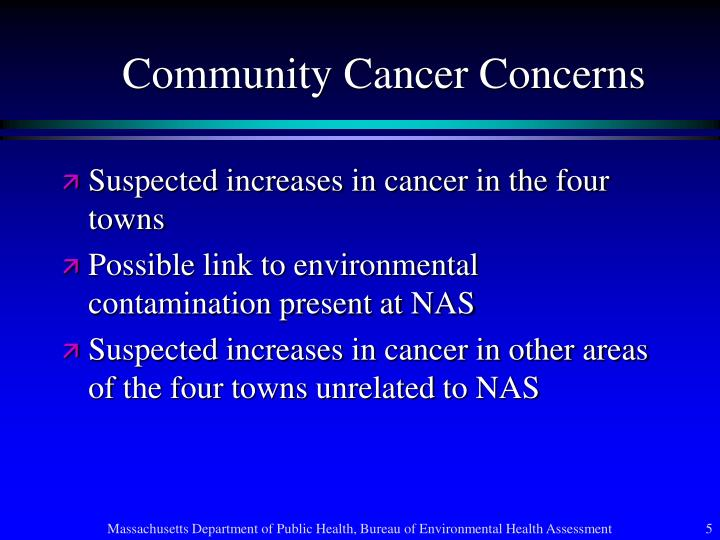 Community Cancer Concerns