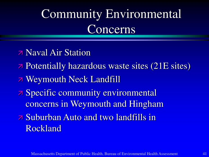 Community Environmental Concerns