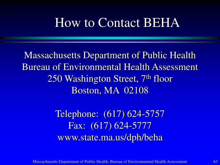 How to Contact BEHA