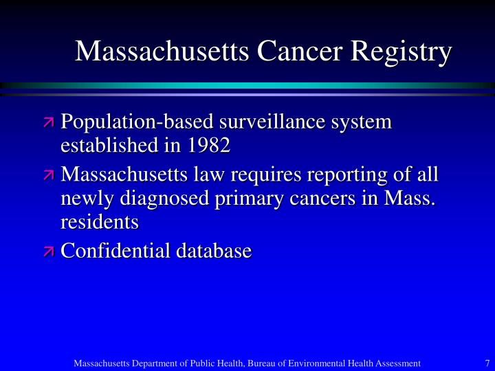 Massachusetts Cancer Registry