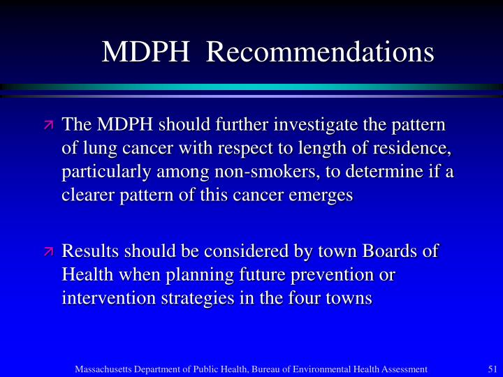 MDPH  Recommendations