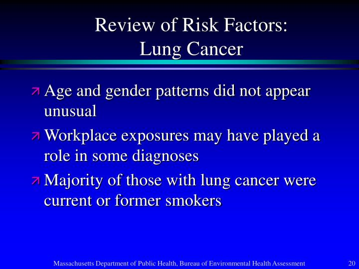 Review of Risk Factors: