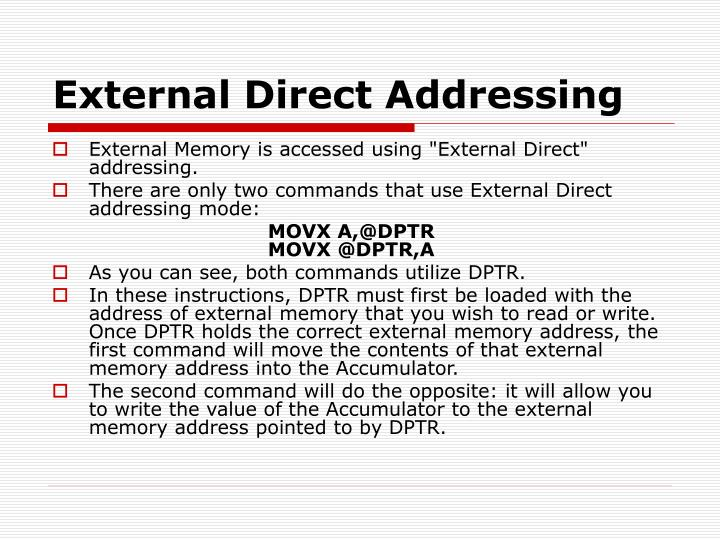 External Direct Addressing