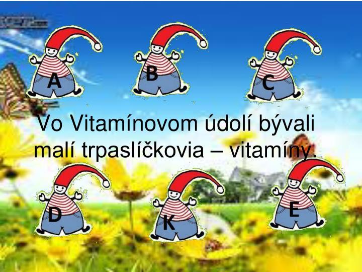 Vo Vitamínovom údolí bývali malí trpaslíčkovia – vitamíny.