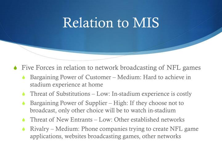 Relation to MIS