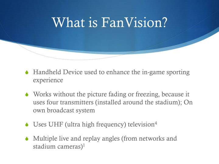 What is fanvision