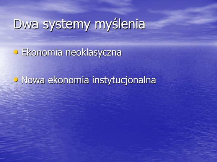 Dwa systemy myślenia