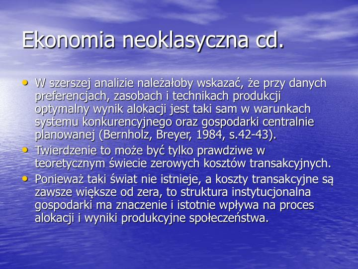 Ekonomia neoklasyczna cd.