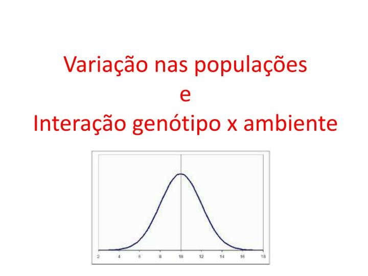 Variao nas populaes