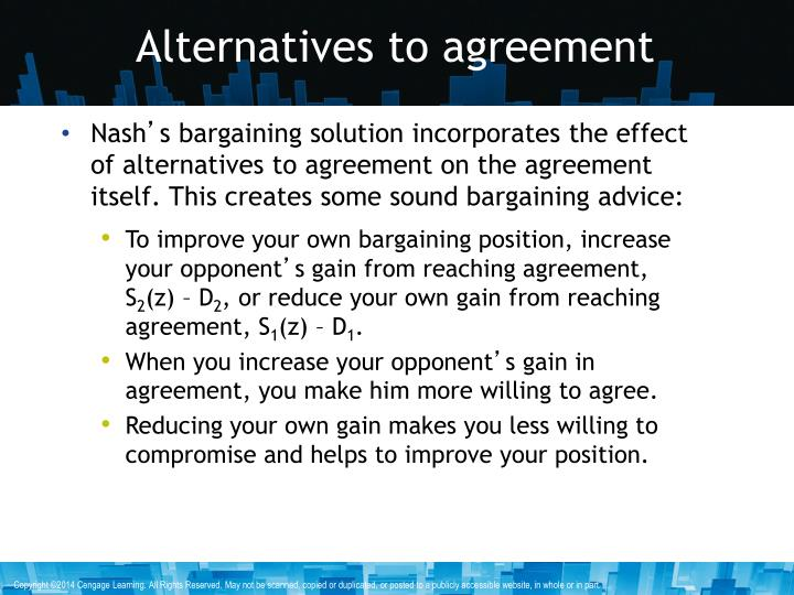 Alternatives to agreement