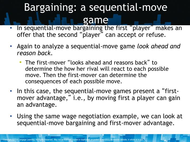 Bargaining: a sequential-move game