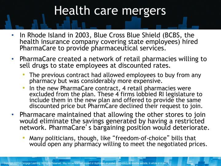 Health care mergers