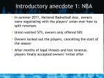 introductory anecdote 1 nba