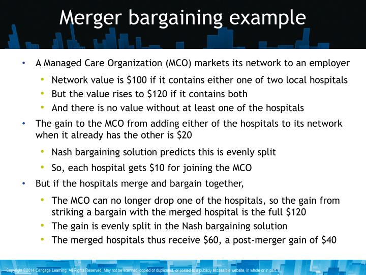 Merger bargaining example