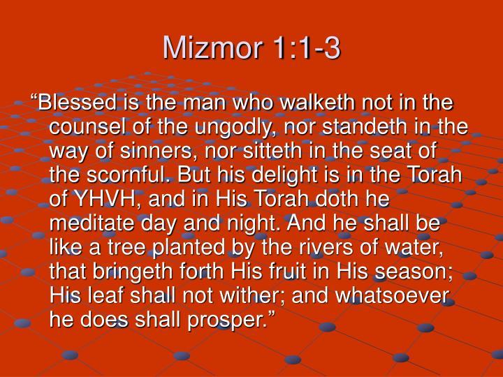 Mizmor 1:1-3
