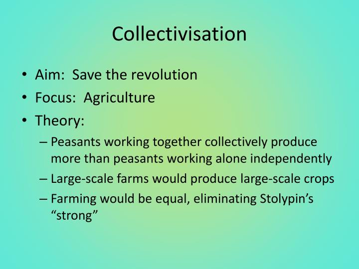 Collectivisation