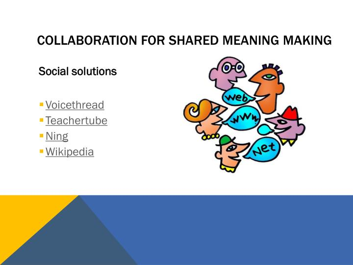 Collaboration for Shared meaning making