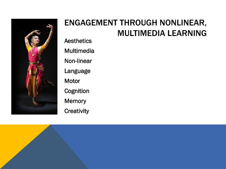 Engagement through Nonlinear, multimedia learning