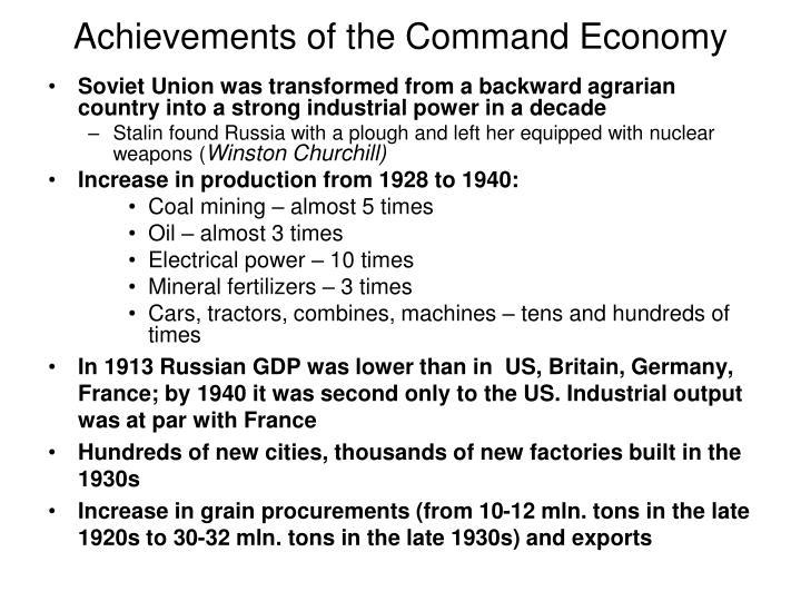 Achievements of the Command Economy