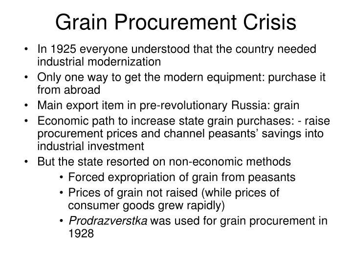 Grain Procurement Crisis
