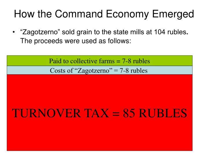 How the Command Economy Emerged