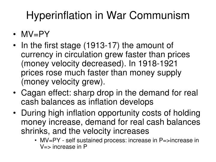 Hyperinflation in War Communism