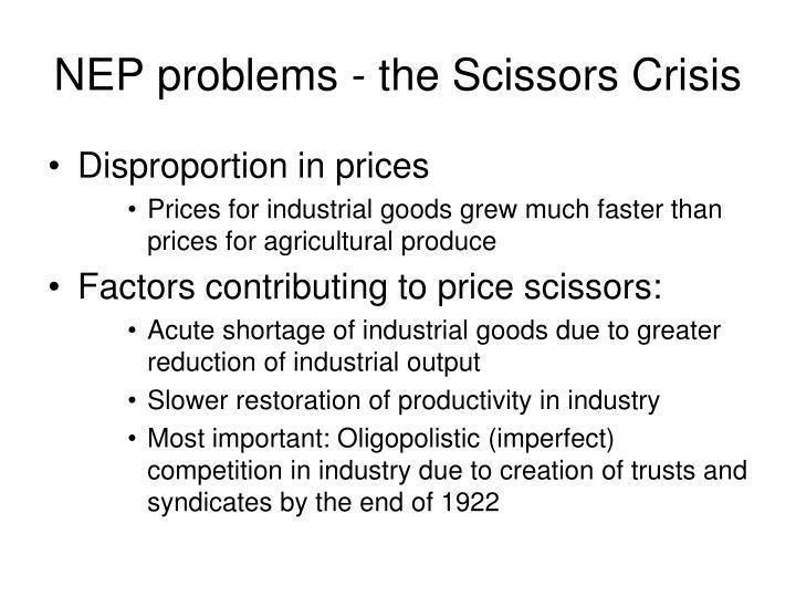 NEP problems - the Scissors Crisis