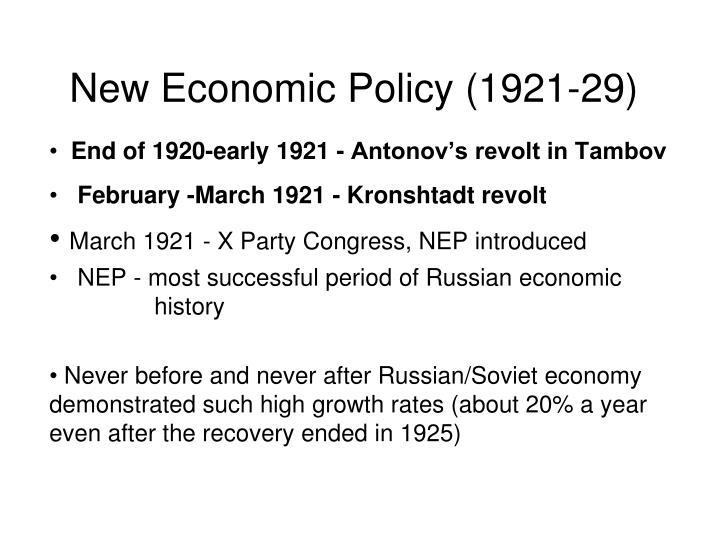New Economic Policy (1921-29)