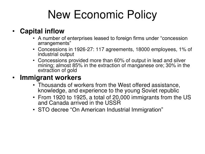 New Economic Policy