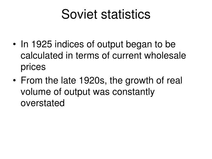 Soviet statistics