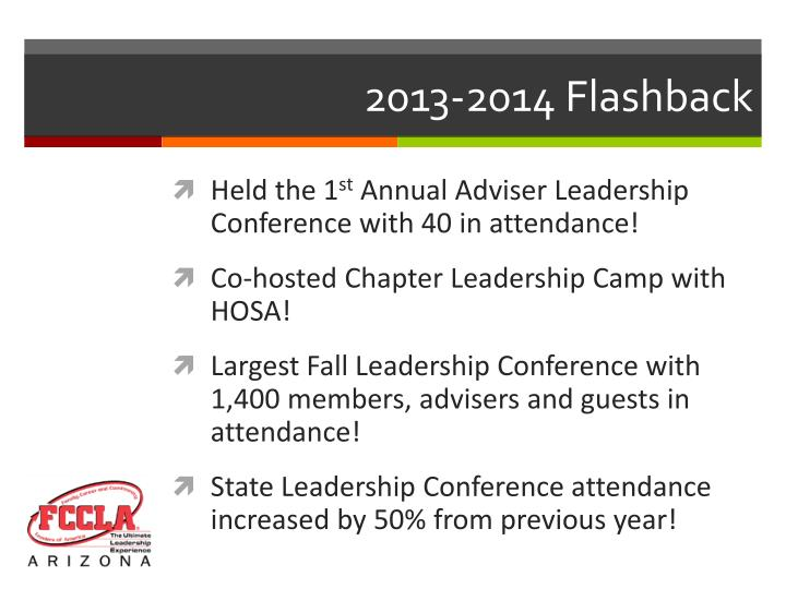 2013-2014 Flashback