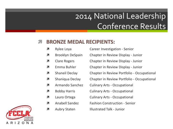 2014 National Leadership