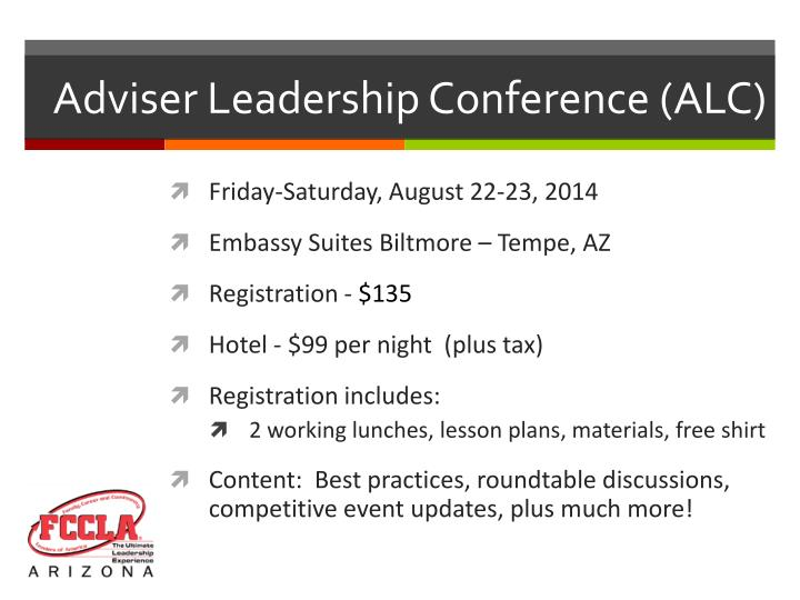 Adviser Leadership Conference (ALC)
