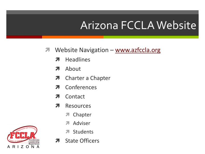 Arizona FCCLA Website